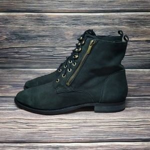 Sam Edelman Shoes - Sam Edelman Black Suede Leather Booties Mackay